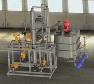 3D-Modell eines Ansatzbehälters mit Stärkekocher
