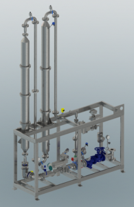 A rendered 3D-model of the Cooking unit for wheat starch.